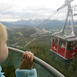 Child on Jasper Tramway Tour